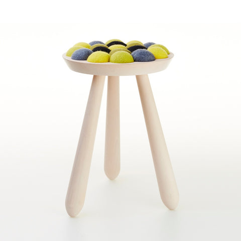 Aveva Design WOW STOOL Lemonde Hocker aus Buchenholz