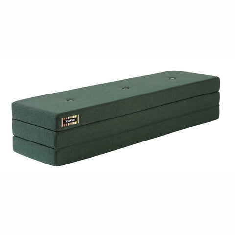 "byKlipKlap faltbare Matratze & Sofa ""KK 3 Fold"" (180cm) - Deep green / light green"