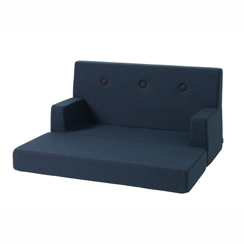 "byKlipKlap Kindersofa ""KK Kids Sofa"" (0-6 Jahre) - Dark blue / black 2"
