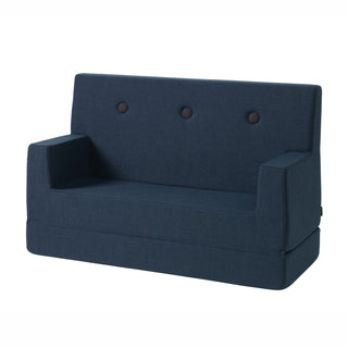 "byKlipKlap Kindersofa ""KK Kids Sofa"" (0-6 Jahre) - Dark blue / black"