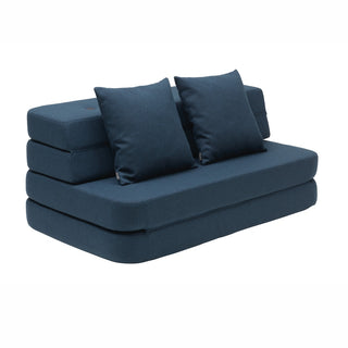 "byKlipKlap multifunktionales Sofa ""KK 3 Fold Sofa XL"" (140cm) - Dark blue / black"