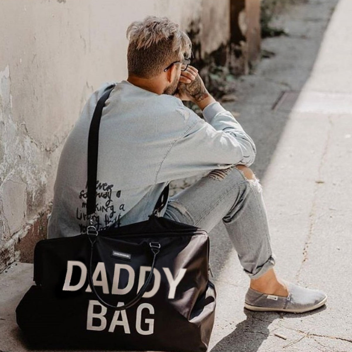 Childhome Wickeltasche Daddy Bag in schwarz