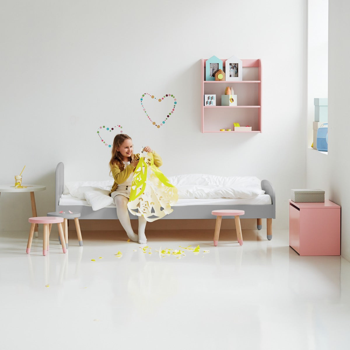 flexa kinderbett play in grau online kaufen kidswoodlove. Black Bedroom Furniture Sets. Home Design Ideas