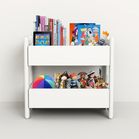 "Flexa Shelfie Regal ""Mini E"" mit 2 Organizerboxen in weiß 2"