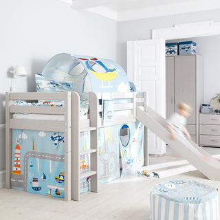 "Flexa Bett- & Spieltunnel ""Transport"" mit Steppdecke"