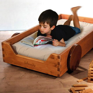 Woodly Classic Flurbett in der Farbe Honey Stained - Kinderbett - KidsWoodLove