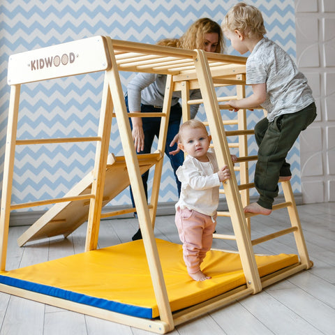 "Kidwood Kinder-Klettergerüst aus Holz für Kinderzimmer ""Rakete Basis Set"" - 2"