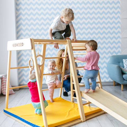 "Kidwood Indoor-Klettergerüst aus Holz  ""Rakete Game Set"" 2"