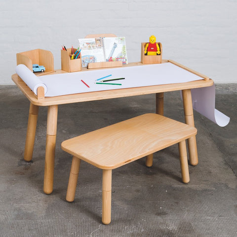 Growing Table Kindertisch mit Stühlen Nature aus Buche von Pure Position - KidsWoodLove  - 1