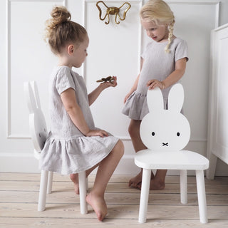 "Kids of Scandinavia Original Kinderstuhl ""Miffy"" aus Massivholz in weiß 2"