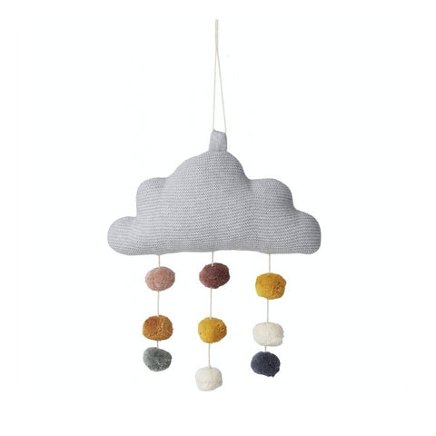"Liewood Baby-Mobile ""Mini Cloud"" aus Bio-Baumwolle in grau"