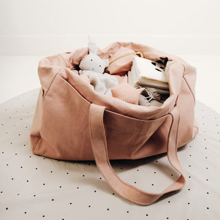 Liewood Wickeltasche Mommy Bag aus Baumwolle in rosa