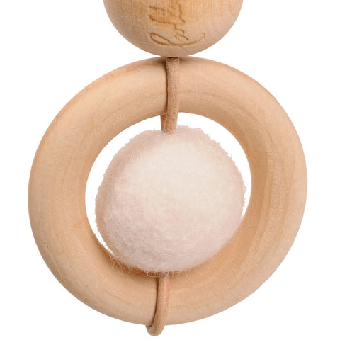 Loullou Spielbogen-Mobile aus Holz Baby Dot in weiss
