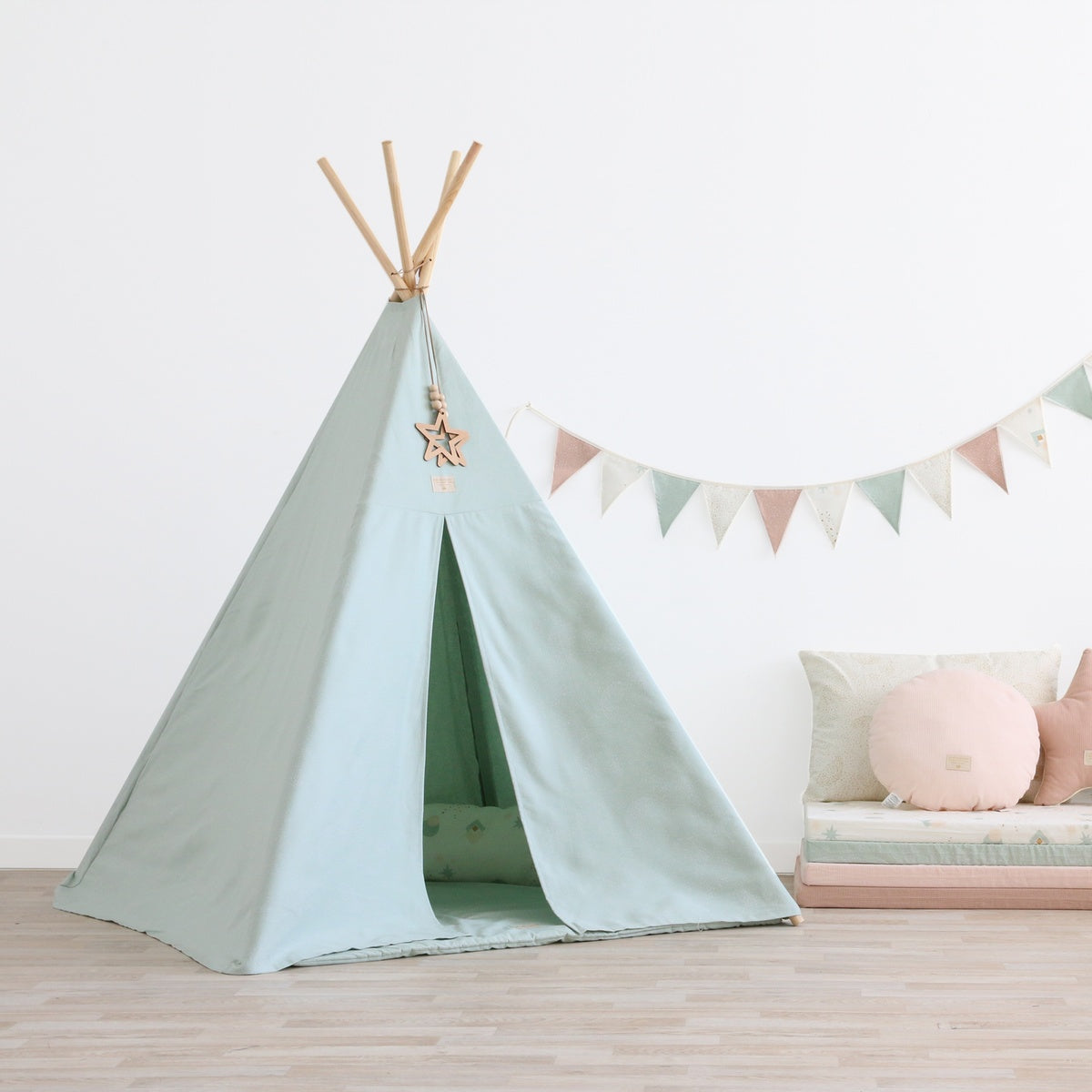 nobodinoz tipi phoenix bubble mint online kaufen kidswoodlove. Black Bedroom Furniture Sets. Home Design Ideas