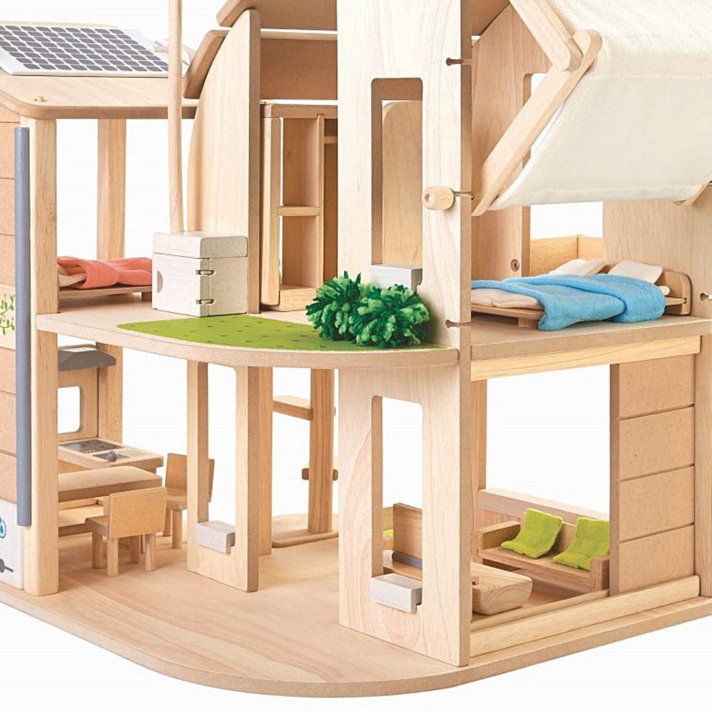 plantoys puppenhaus ko aus holz m bliert im online shop kidswoodlove. Black Bedroom Furniture Sets. Home Design Ideas