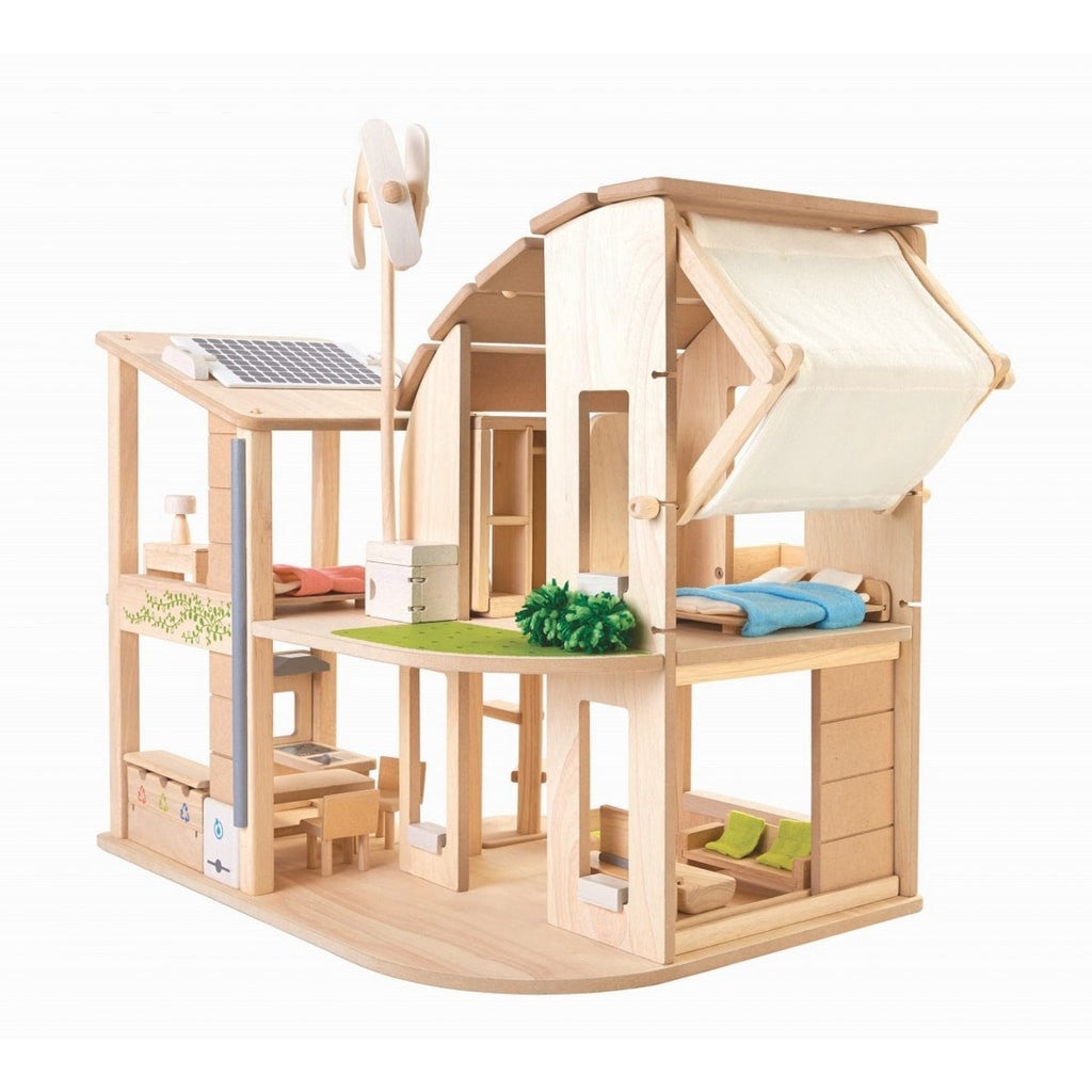 Plantoys puppenhaus ko aus holz m bliert im online shop for House furniture pictures