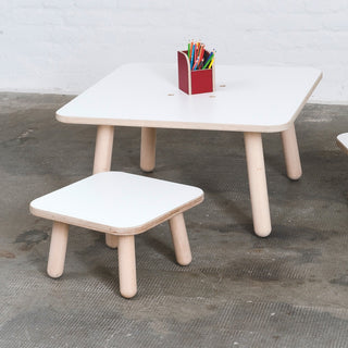 Pure Position Kinderhocker für Kindertisch Growing Table in weiss bei KidsWoodLove