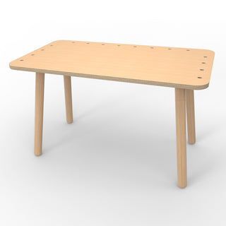 Pure Position Growing Table Kindertisch aus Holz in Natur, höhenverstellbar