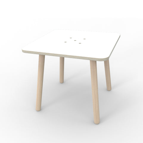 "Pure Position Growing Table Kindertisch aus Holz Modelltyp ""Square"" in weiss"