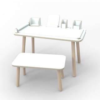 Pure Position Growing Table Komplett-Set 9-teilig in weiß