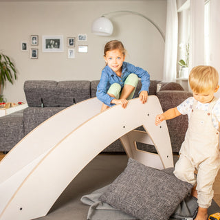 "Vanbu Kids Kinderrutsche ""Slide and Rock"" aus Holz in weiß"