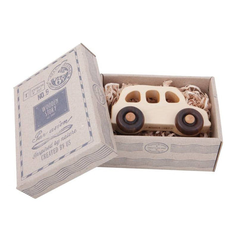 Wooden Story Englisches Taxi Holzauto bei KidsWoodLove