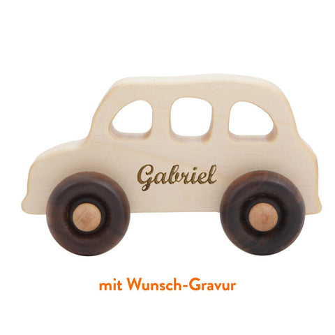 "Wooden Story Holzauto ""Englisches Taxi"" mit Wunsch-Gravur"