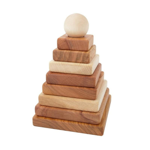 WoodenStory Stapelpyramide in Natur aus Holz bei KidsWoodLove
