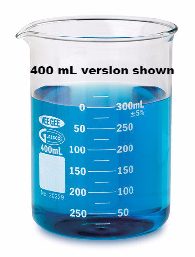 VEE GEE 20229 Griffin Low Form 600mL Beaker, Graduated - The Science Shop