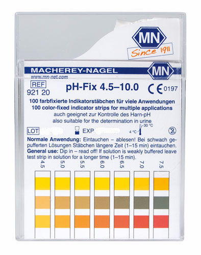 pH-Fix 4.5 - 10.0 Test Strips 100/pk - The Science Shop