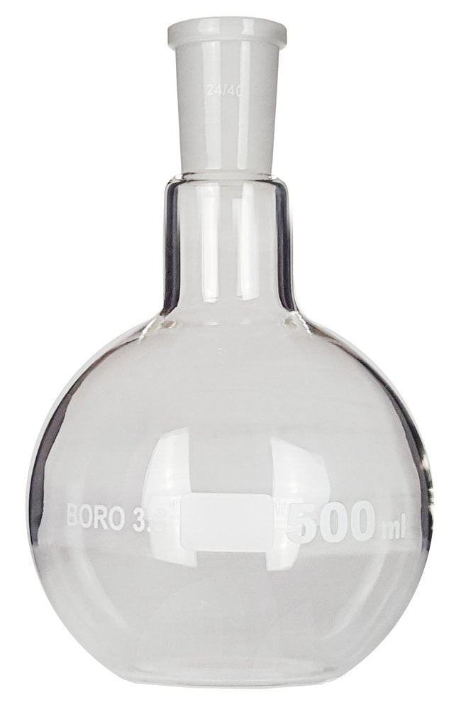 Flat Bottom Flask with 24/40 Joint ~ 500mL
