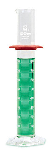 Graduated Cylinder - Glass (Economy Grade) ~ 1000mL (1L) - The Science Shop
