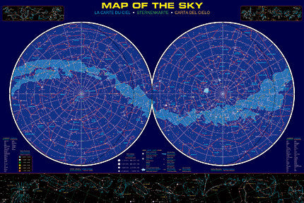 Map of the Sky Poster - The Science Shop