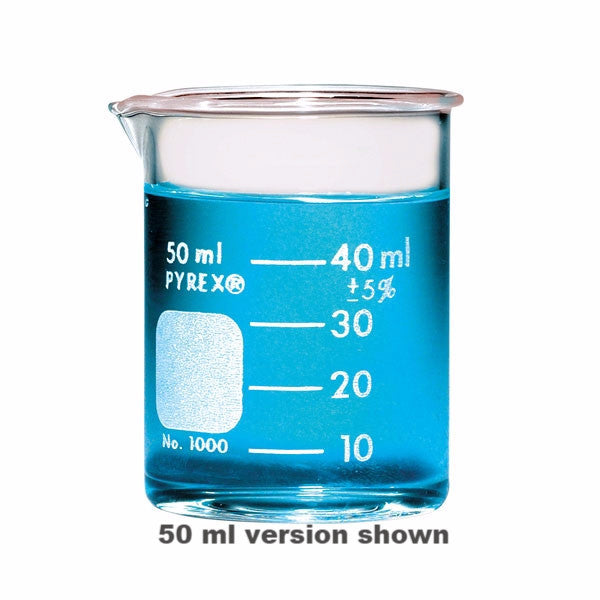 PYREX® 1000-30 Griffin Low Form 30mL Beaker, Graduated - The Science Shop