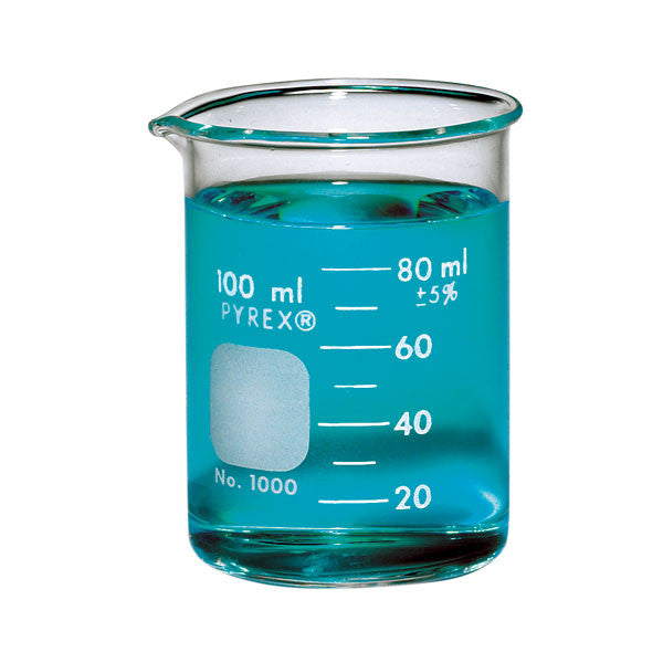 PYREX® Griffin Low Form  Beaker, Graduated ~ 100mL - The Science Shop