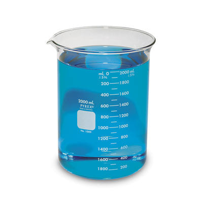 PYREX® Griffin Low Form 2000mL Beaker Graduated - The Science Shop