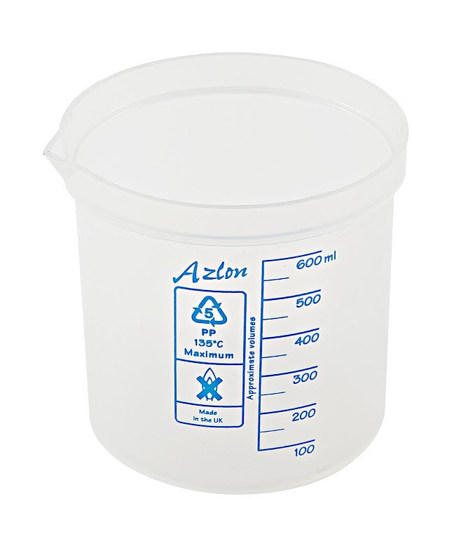 Azlon Polypropylene Graduated Beaker - 600 ml - The Science Shop