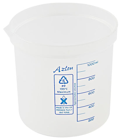 Azlon Polypropylene Graduated Beaker - 1000 ml