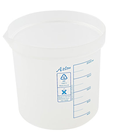 Azlon Polypropylene Graduated Beaker - 2000 ml