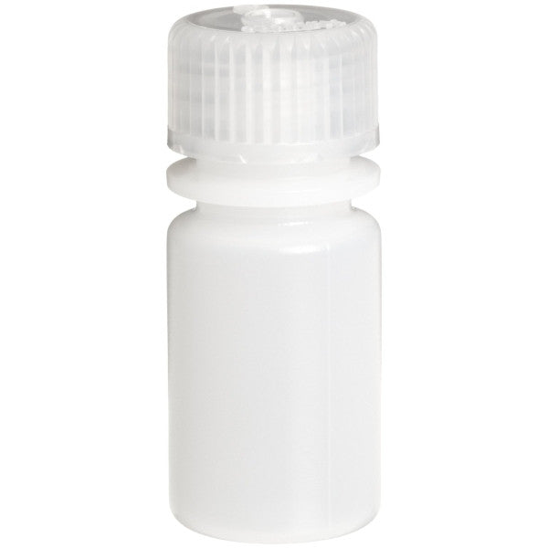 Nalgene HDPE Round Bottles ~ Narrow Mouth ~ 15mL (0.5 oz) - The Science Shop