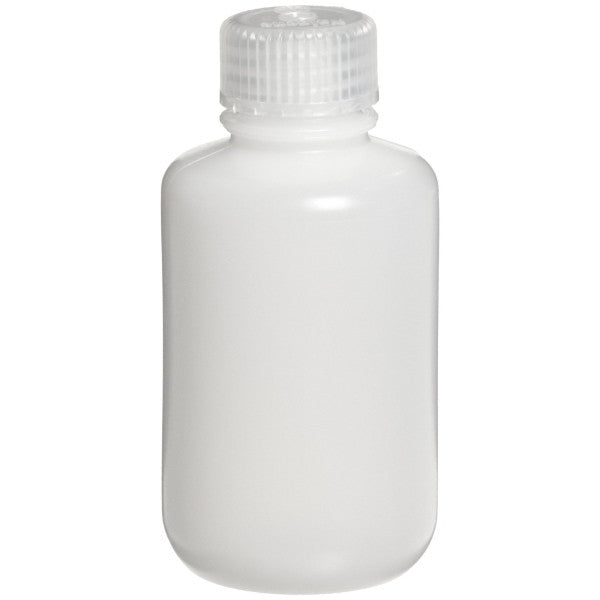 Nalgene HDPE Round Bottles ~ Narrow Mouth ~ 125mL (4 oz) - The Science Shop