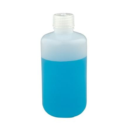 Nalgene 2002-0008 HDPE Round Bottle ~ Narrow Mouth ~ 250mL (8 oz)