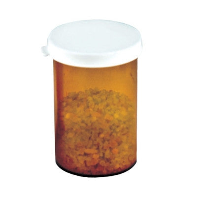 Amber Polystyrene Snap Cap  Vial ~ 30 dram - The Science Shop