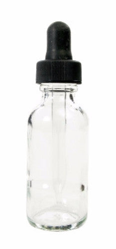 4 oz Clear Glass Dropping Bottle - The Science Shop