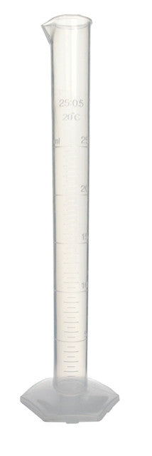 Graduated Cylinder - Polypropylene ~ 25mL - The Science Shop