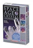 "Space Age Crystals: 4 Crystals ""Quartz"", ""Amethyst"", Emerald, Fluorite"" - The Science Shop"