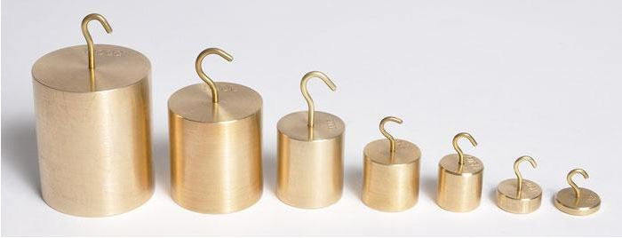 Weight, Metric ~ Individual Hooked Brass ~ 5g - The Science Shop
