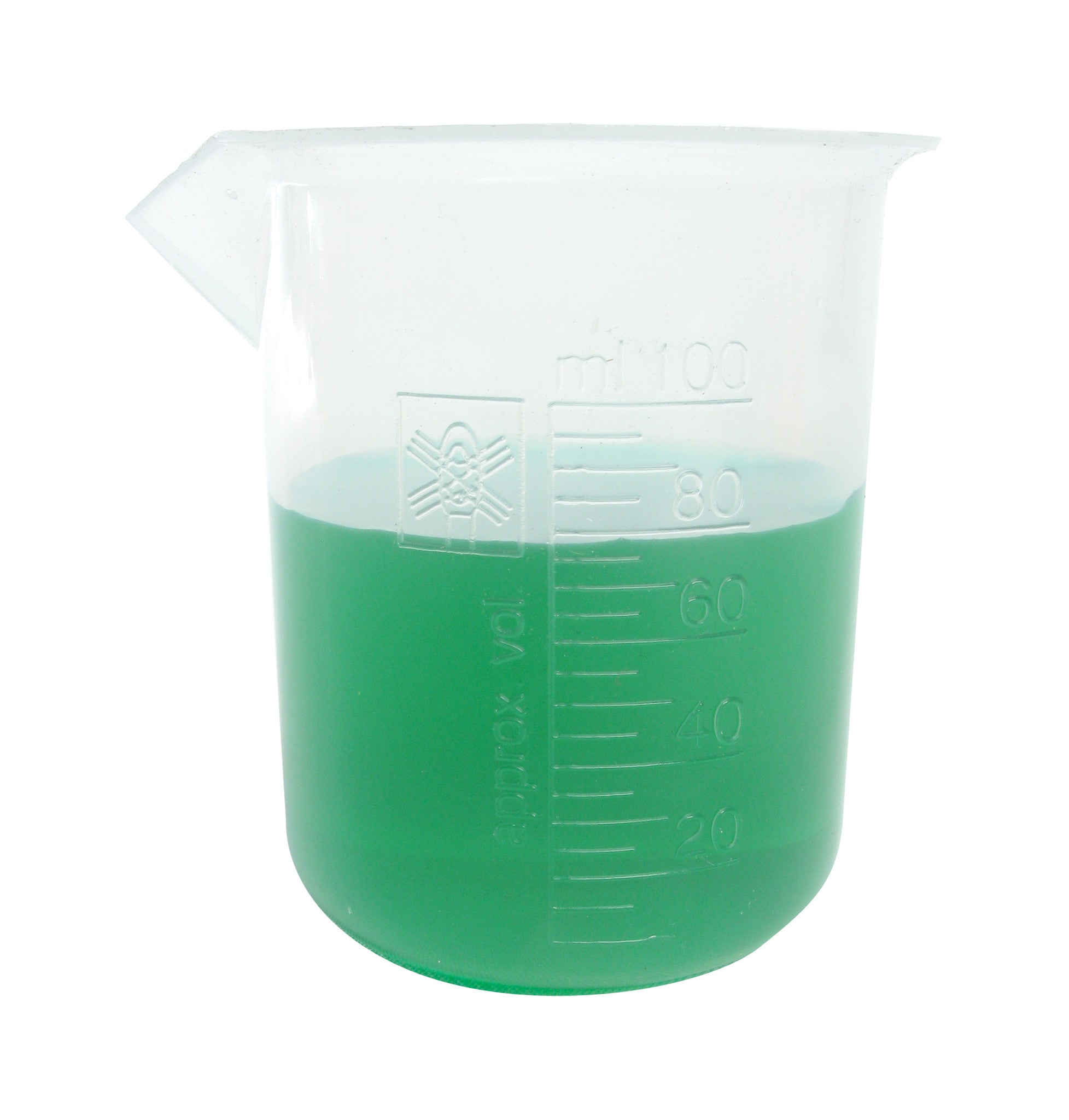 Polypropylene Graduated Beaker - 100 ml - The Science Shop