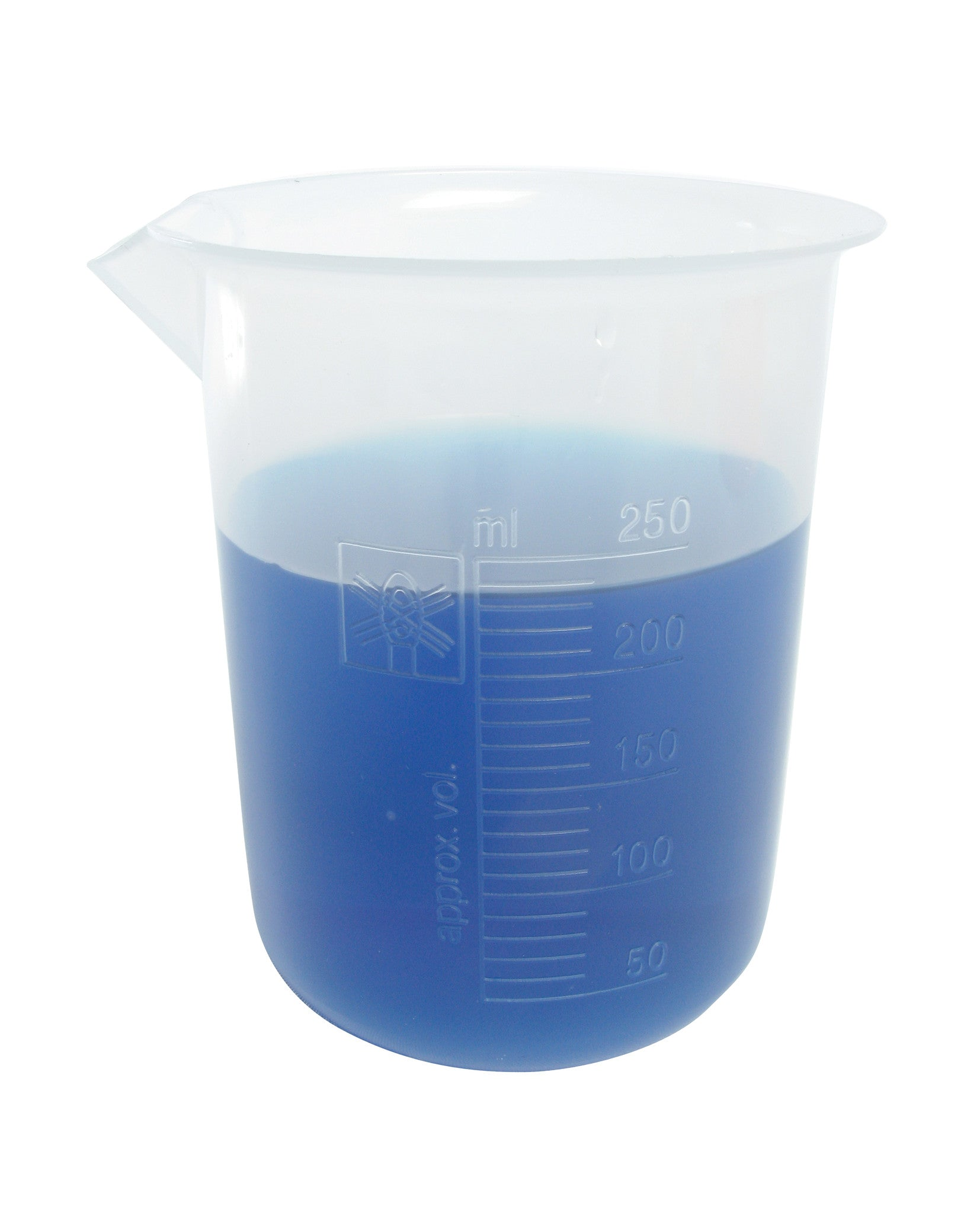 Polypropylene Graduated Beaker - 250 ml - The Science Shop