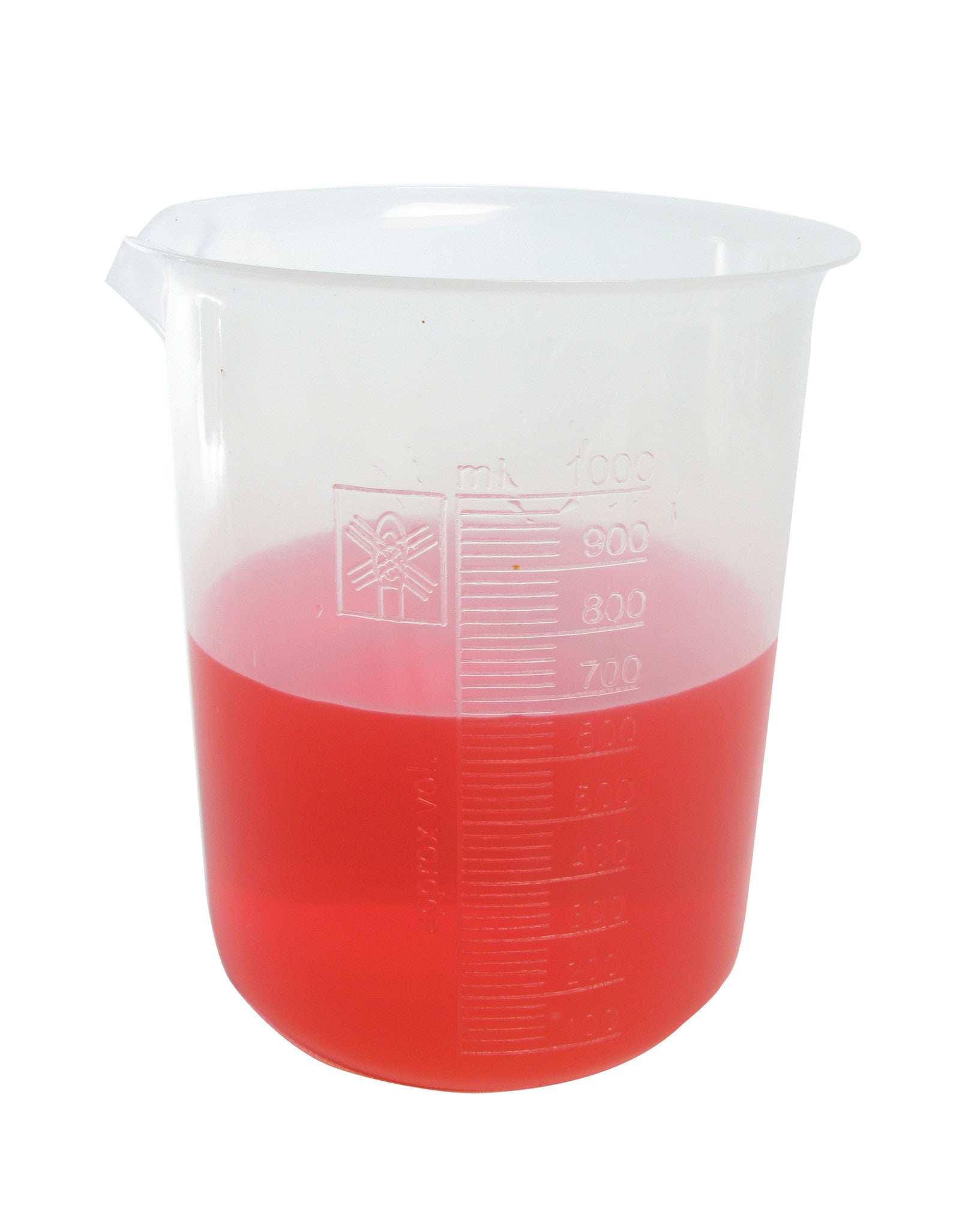 Polypropylene Graduated Beaker - 1000 ml - The Science Shop